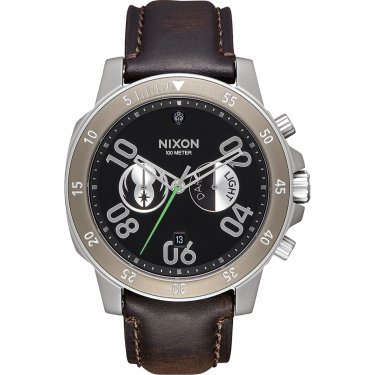 Nixon Star Wars Ranger Chrono Leather SW Jedi Black Herrenuhr Schwarz-Braun Lederarmband A940SW-2377-00