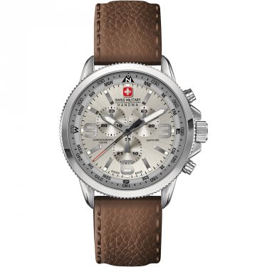 Swiss Military Hanowa Arrow Chrono Herrenuhr Silberfarben 06-4224.04.030