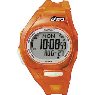 Asics AR08 Sportuhr Orange-Transparent Kunststoffarmband...