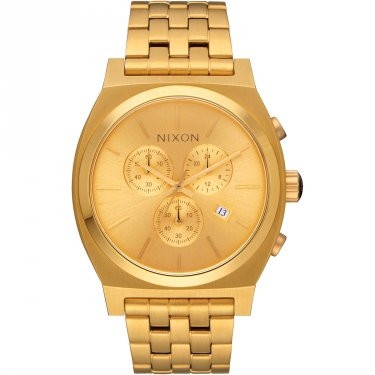 Nixon Time Teller Chrono Herrenuhr Goldfarben Metallarmband S972-502-00