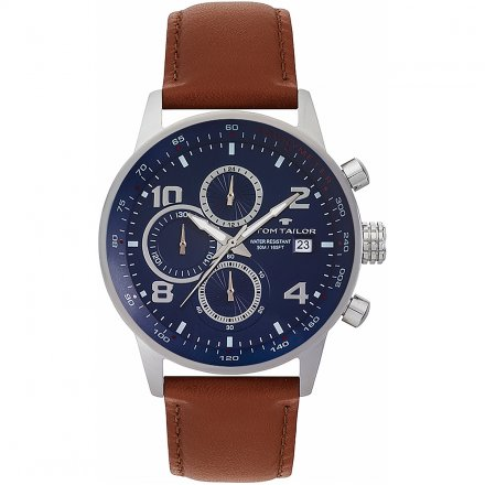 TOM TAILOR Herrenuhr Blau Chronograph 5414005