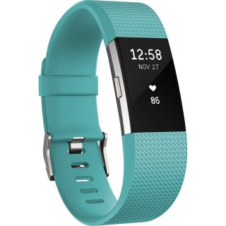 Fitbit Charge 2, Teal Silver Large FB407STEL-EU