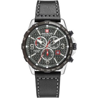 Swiss Military Hanowa Ace Chrono Herrenuhr Schwarz...
