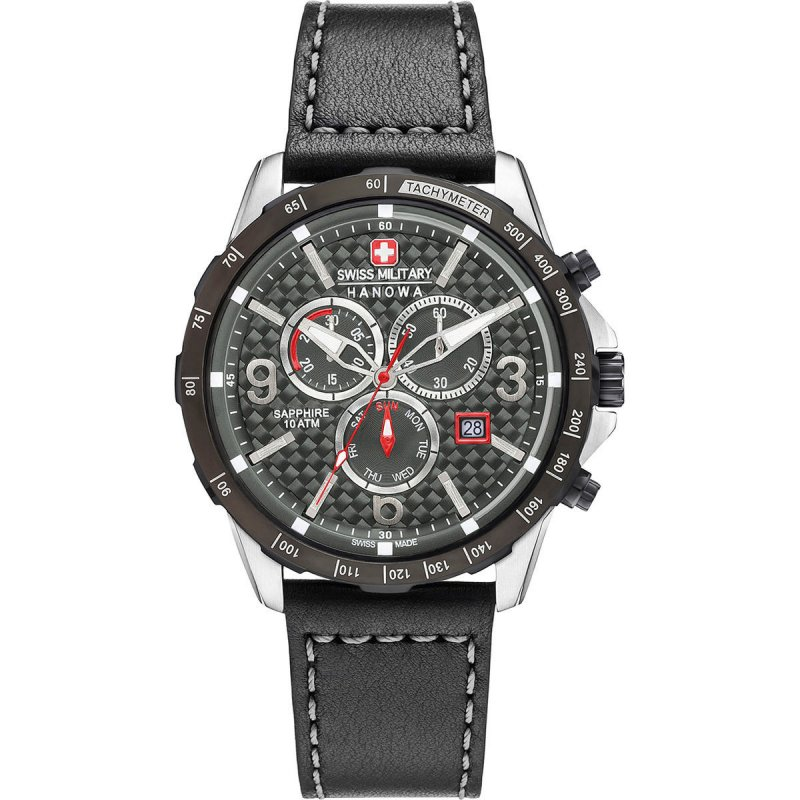 Swiss Military Hanowa Ace Chrono Herrenuhr Schwarz 06-4251.33.001